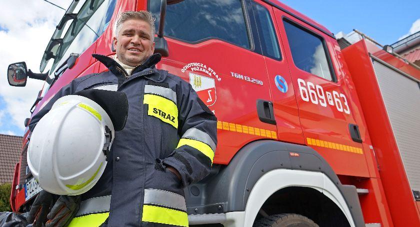 Straż pożarna, Strażak Blękwitu - zdjęcie, fotografia