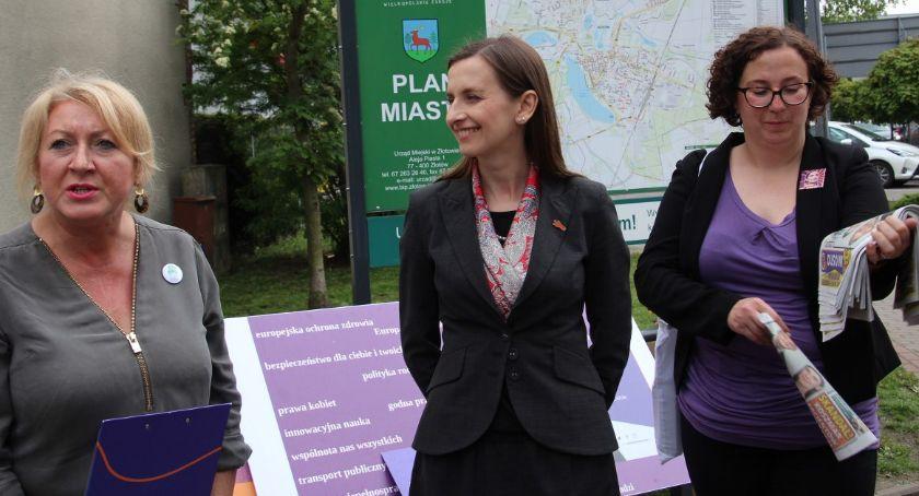 Partie polityczne, Sylwia Spurek była zastępczyni Rzecznika Obywatelskich wizytą Złotowie - zdjęcie, fotografia