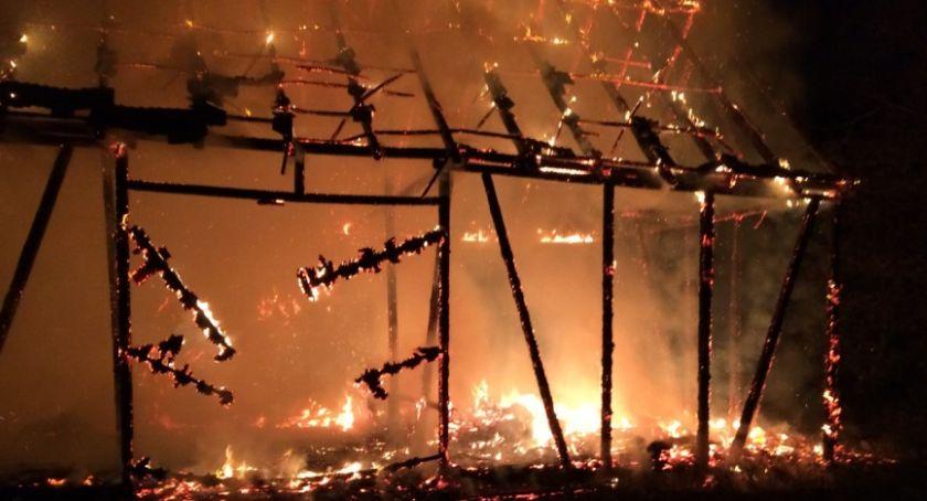Straż pożarna, Pożar stodoły - zdjęcie, fotografia
