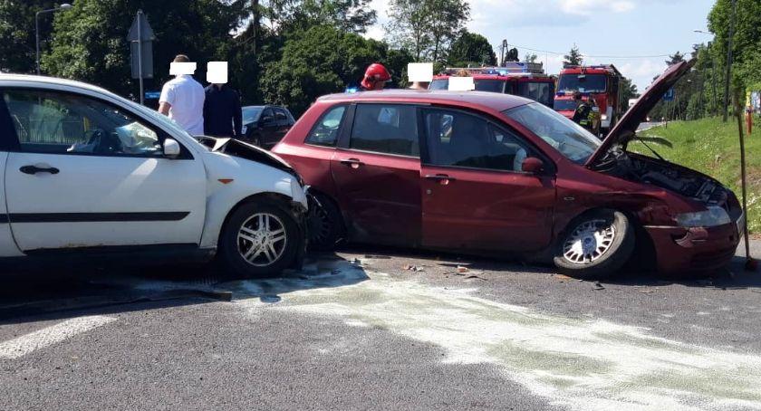 Wypadki drogowe, Kolizja Jastrowiu - zdjęcie, fotografia
