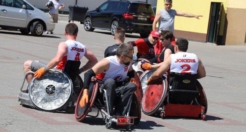 Pozostałe, Rugby wózkach Złotowie - zdjęcie, fotografia