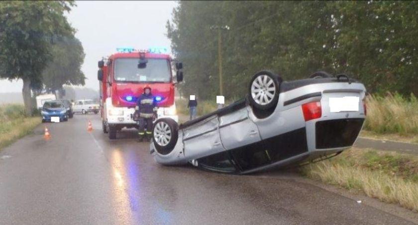 Wypadki drogowe, Kolizja Nowym Dworze - zdjęcie, fotografia