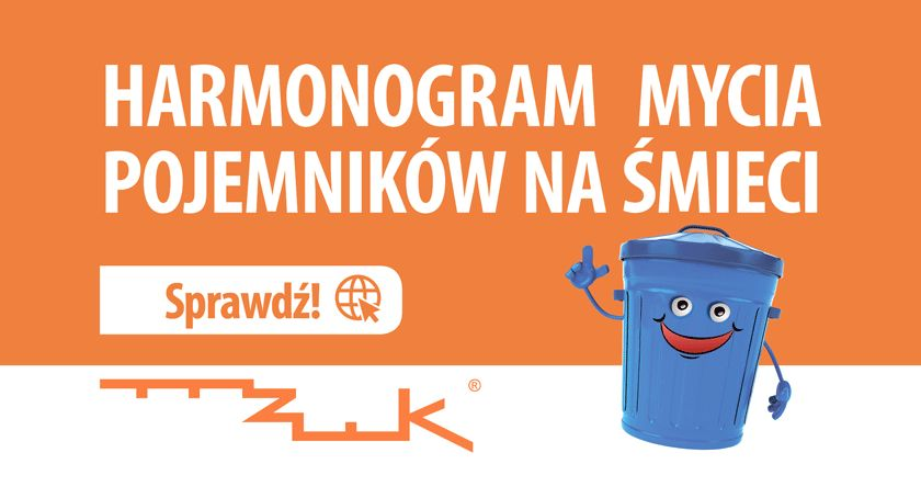 Administracja, Harmonogram mycia pojemników - zdjęcie, fotografia