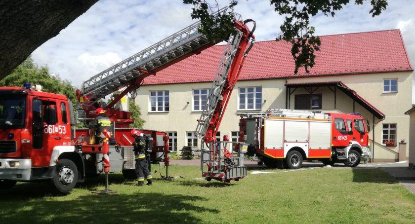Straż pożarna, Strażacy ćwiczyli Zakrzewie - zdjęcie, fotografia