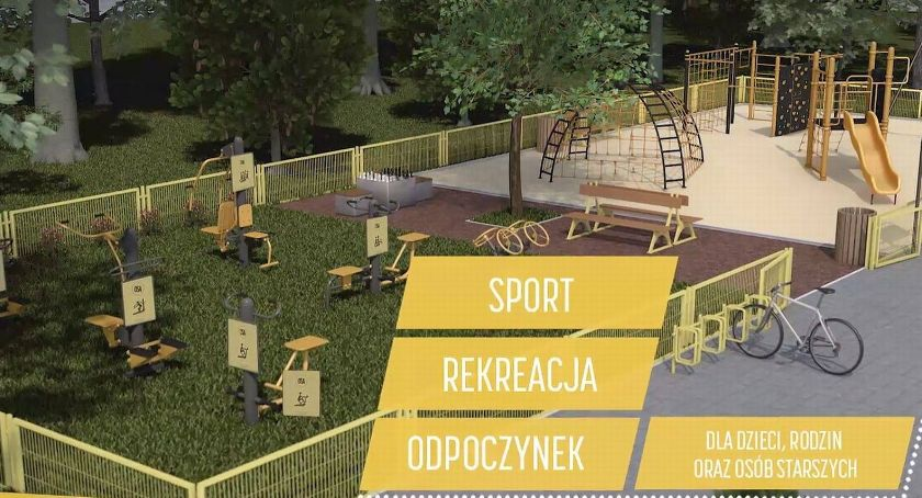 Rekreacja wypoczynek, Lipce buduje siłownia zabaw - zdjęcie, fotografia