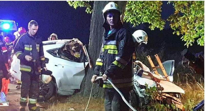 Wypadki drogowe, Wypadek trasie Lipka Czyżkowo - zdjęcie, fotografia