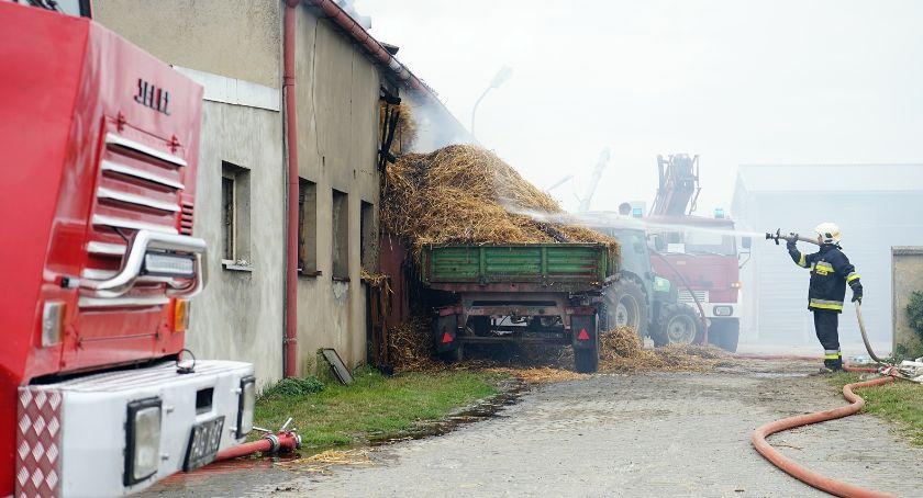 Pożar budynku gospodarskiego w Chlebnie