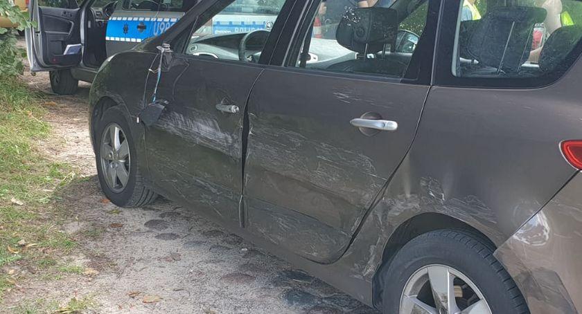 Wypadki drogowe, Kolizja trasie Złotów Blękwit - zdjęcie, fotografia