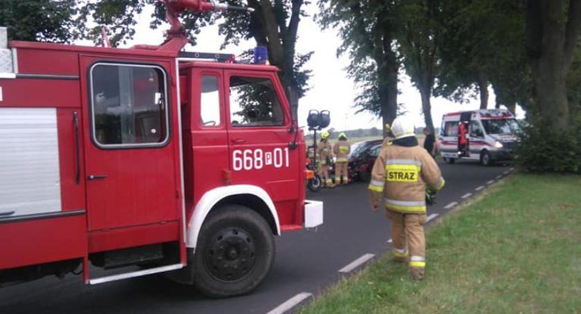 Wypadki drogowe, Wypadek Śmiardowem - zdjęcie, fotografia