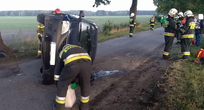 Wypadki drogowe, Kolizja trasie Buntowo Krajenka - zdjęcie, fotografia