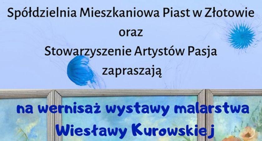Wernisaże wystawy warsztaty, Wernisaż Wiesi Kurowskiej - zdjęcie, fotografia
