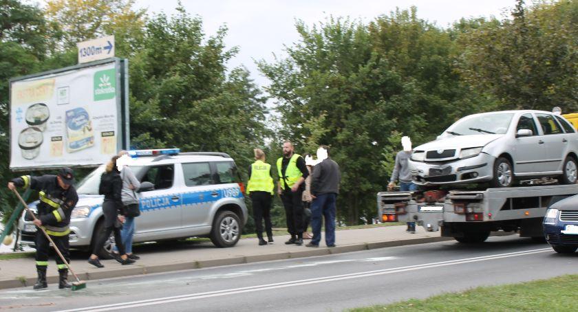 Wypadki drogowe, Kolizja Staszica Złotowie - zdjęcie, fotografia