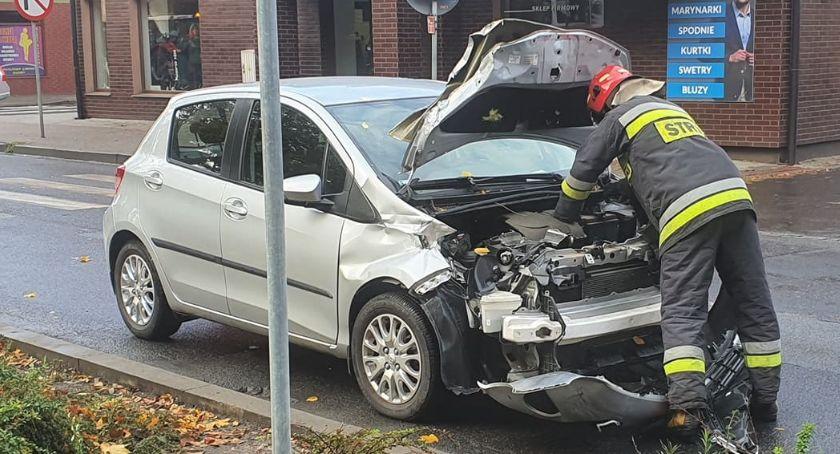 Wypadki drogowe, Kolizja Mickiewicza Złotowie - zdjęcie, fotografia
