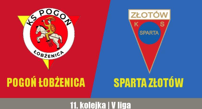 Piłka nożna, Pogoń Łobżenica Sparta Złotów - zdjęcie, fotografia