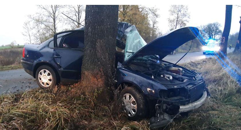 Wypadki drogowe, Wypadek trasie Tarnówka Węgierce - zdjęcie, fotografia