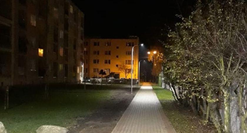Inwestycje w powiecie, oświetlenie Matejki Złotowie - zdjęcie, fotografia