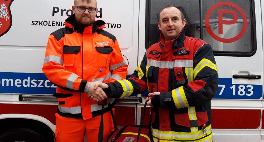 Straż pożarna, Torba medyczna Lotyń - zdjęcie, fotografia