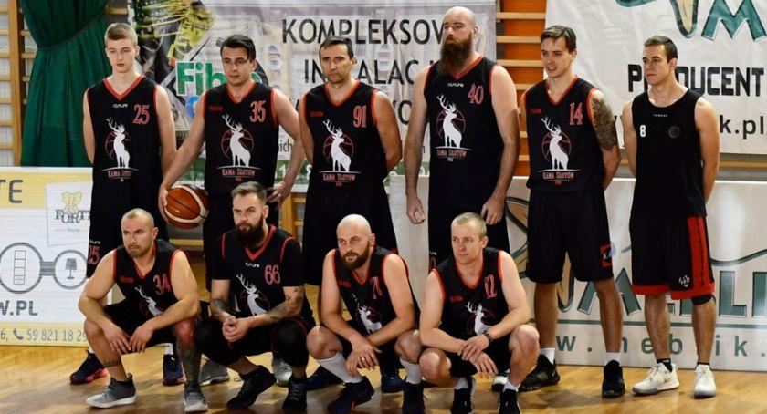 Koszykówka, Złotów kontra Kaliska Basket - zdjęcie, fotografia