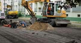 Prace remontowe przy ul. Słowackiego w Złotowie