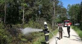 Pożar od zwarcia linii energetycznej