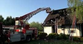 Pożar budynku w Głubczynie