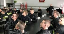 Odprawa w złotowskiej Komendzie Powiatowej  Państwowej Straży Pożarnej