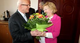 Jan Zamczyk - szczęśliwy emeryt - pożegnał się ze starostwem