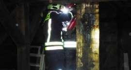 Pożar w budynku wielorodzinnym w Okonku