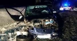 Samochód z lawetą uderzył w drzewo