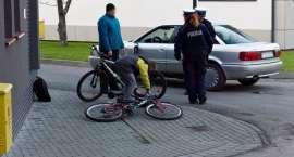 Potrącenie rowerzysty na ul.Mokrej w Złotowie