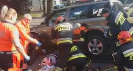 Potrącenie rowerzysty przy al.Piasta w Złotowe