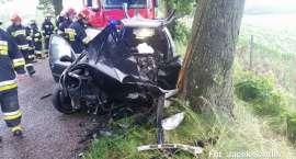 Wypadek na trasie Łąkie -Kiełpin