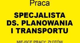 Praca - poszukiwany specjalista ds. planowania i transportu