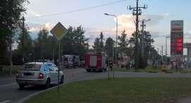 Wypadek z udziałem motocyklisty w Krajence