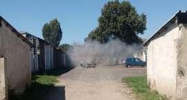 Pożar auta w Jastrowiu
