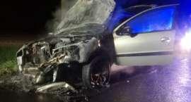 Pożar samochodu na DK 11