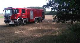 Pożar lasu w okolicy miejscowości Prochy