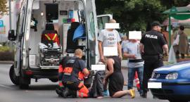 Potrącenie kierowcy skutera na ul. Norwida w Złotowie
