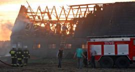 Luchowo - pożar budynku gospodarskiego