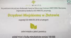Urząd Miejski w Złotowie laureatem konkursu ECO - MIASTO 2018
