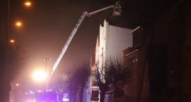Pożar na ul. Obrońców Warszawy w Złotowie