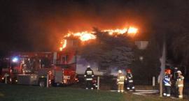 Pożar poddasza budynku jednorodzinnego