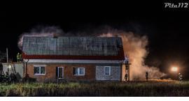 Pożar domu w Kościerzynie Małym