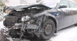 Zderzenie aut osobowych na ulicy Królowej Jadwigi