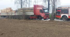 Pożar ciężarówki na trasie Krajenka- Bartoszkowo