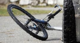 Wypadek z udziałem rowerzystki