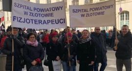 Pracownicy złotowskiego szpitala na manifestacji w Warszawie