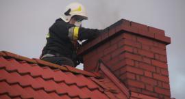 Pożar sadzy w przewodzie kominowym budynku mieszkalnego