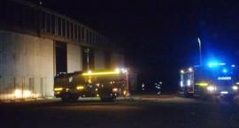 Nocny pożar w Lipce
