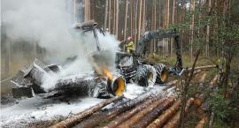 Pożar kombajnu zrębowego
